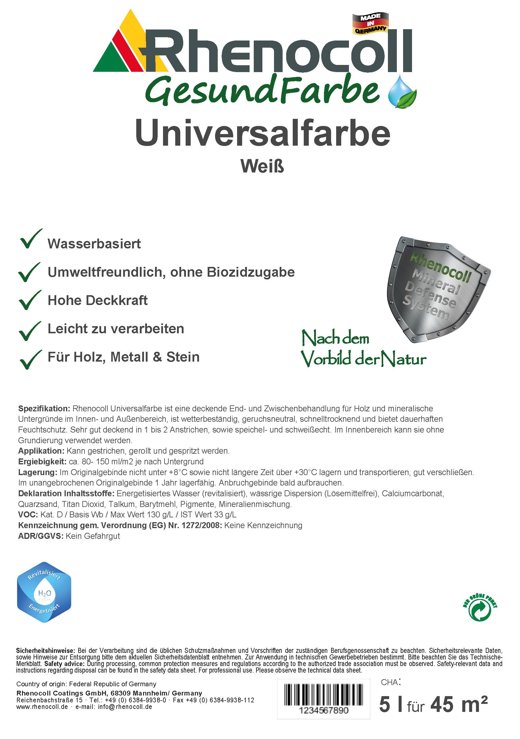 Universalfarbe Holz/ Metall/ Stein